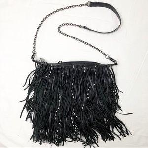 Steve Madden BMocha Fringe and Beads Crossbody Bag